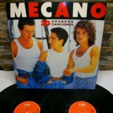 Discos de vinilo: MECANO 20 GRANDES CANCIONES EDICIÓN ESPECIAL GATEFOLD 2 DISCO LP. Lote 269229548