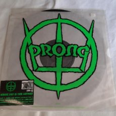 """Discos de vinilo: PRONG -WHOSE FIST IS THIS ANYWAY (FOUR INDUSTRIAL MIXES)- (1992) MAXI-SINGLE 12"""". Lote 269233998"""