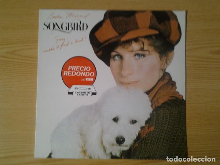 BARBARA STREISAND -SONGBIRD- LP CBS 1978 ED. ESPAÑOLA CBS 460210 1 MUY BUENAS CONDICIONES. (Música - Discos - LP Vinilo - Jazz, Jazz-Rock, Blues y R&B)