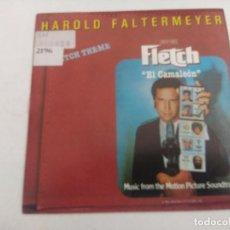 Discos de vinilo: SINGLE/HAROLD FALTERMEYER/FLETCH THEME-EL CAMALEON/PROMOCIONAL.. Lote 269243683