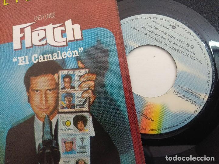 Discos de vinilo: SINGLE/HAROLD FALTERMEYER/FLETCH THEME-EL CAMALEON/PROMOCIONAL. - Foto 2 - 269243683
