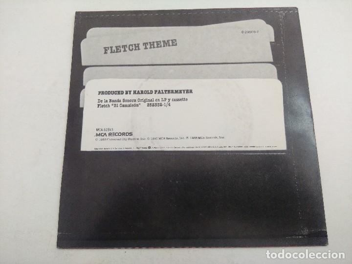 Discos de vinilo: SINGLE/HAROLD FALTERMEYER/FLETCH THEME-EL CAMALEON/PROMOCIONAL. - Foto 3 - 269243683