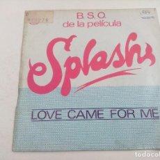 Discos de vinilo: SINGLE/LOVE CAME FOR ME/TEMA SPLASH.. Lote 269246683