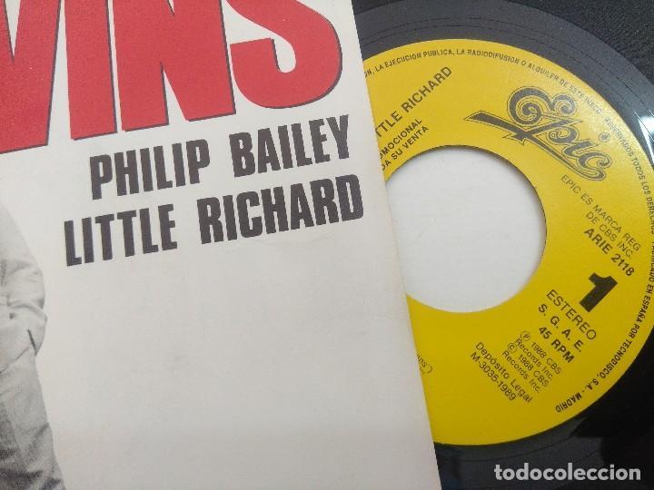 Discos de vinilo: SINGLE/PHILIP BAILEY-LITTLE RICHARD/TWINS/PROMOCIONAL. - Foto 2 - 269247453