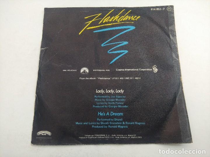 Discos de vinilo: SINGLE/FLASHDANCE/JOE ESPOSITO. - Foto 3 - 269247673