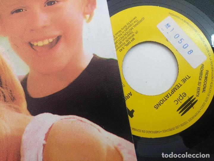 Discos de vinilo: SINGLE/BANDA SONORA ORIGINAL MY GIRL/MI CHICA/THE TEMPTATIONS/PROMOCIONAL. - Foto 2 - 269248323