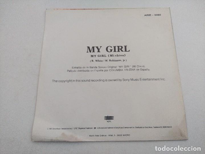 Discos de vinilo: SINGLE/BANDA SONORA ORIGINAL MY GIRL/MI CHICA/THE TEMPTATIONS/PROMOCIONAL. - Foto 3 - 269248323