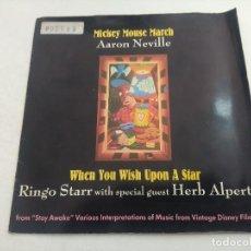 Discos de vinilo: SINGLE/MICKEY MOUSE MARCH/AARN NEVILLE-RINGO STAR.. Lote 269248588