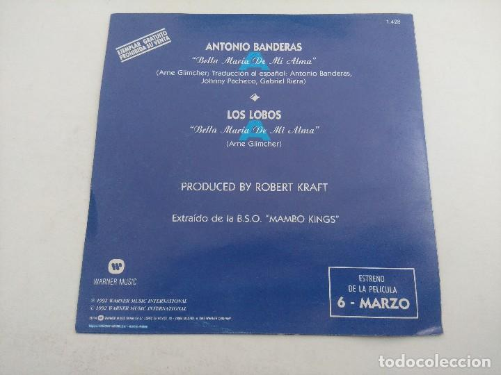 Discos de vinilo: SINGLE/ANTONIO BANDERAS-LOS LOBOS/LOS REYES DEL MAMBO/PROMOCIONAL. - Foto 3 - 269248868