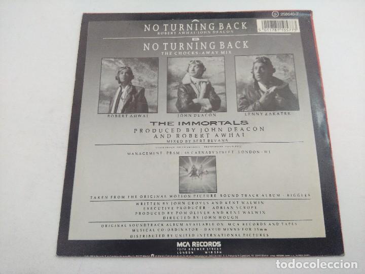 Discos de vinilo: SINGLE/NO TURNING BACK/THE INMORTALS/PROMOCIONAL. - Foto 3 - 269249193