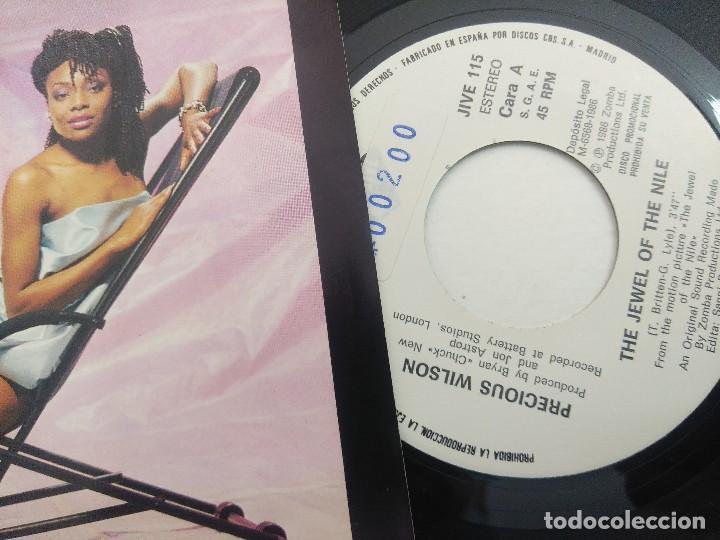 Discos de vinilo: SINGLE/PRECIOUS WILSON/THE JEWEL OF THE NILE/PROMOCIONAL. - Foto 2 - 269249403