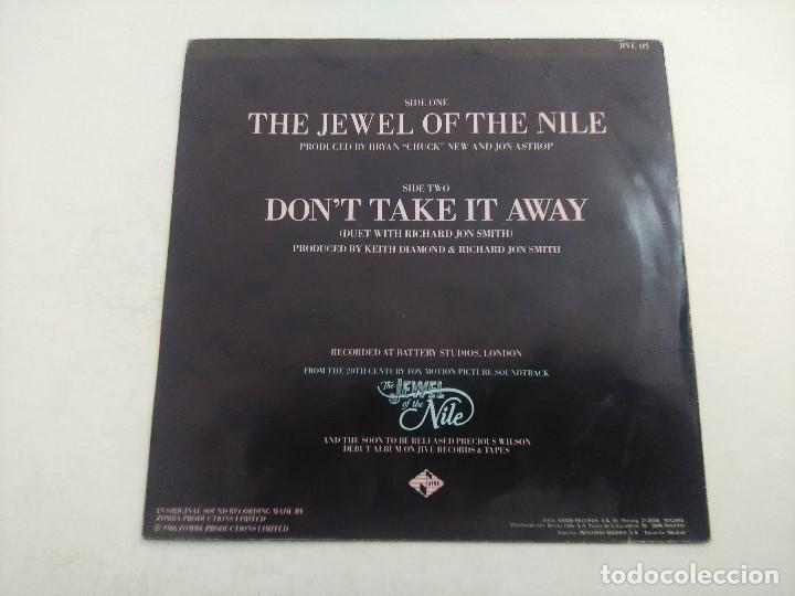 Discos de vinilo: SINGLE/PRECIOUS WILSON/THE JEWEL OF THE NILE/PROMOCIONAL. - Foto 3 - 269249403