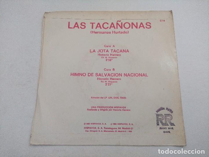 Discos de vinilo: SINGLE/UN,DOS,TRES/LAS TACAÑONAS-HERMANAS HURTADO/PROMOCIONAL. - Foto 3 - 269252688
