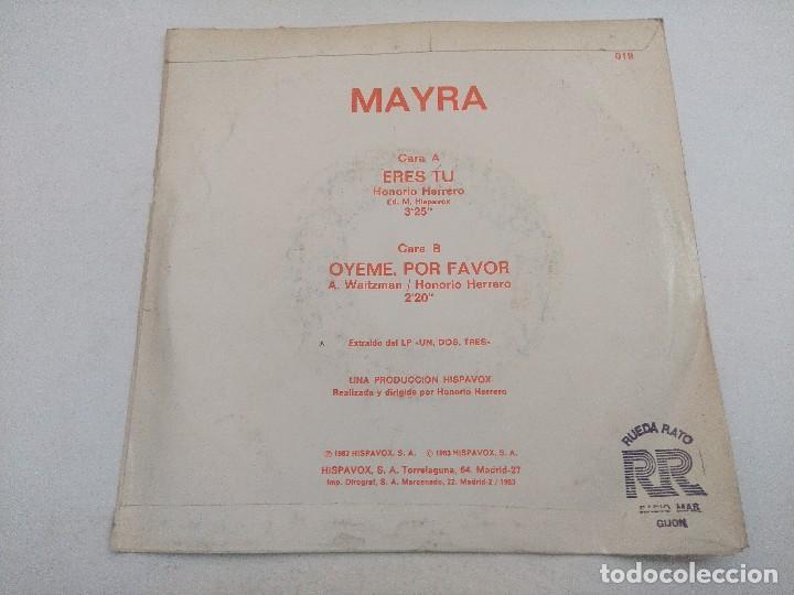 Discos de vinilo: SINGLE/UN,DOS,TRES/MAYRA/PROMOCIONAL. - Foto 3 - 269252808