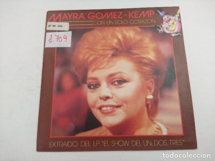 SINGLE/UN,DOS,TRES/MAYRA GOMEZ KEMP/PROMOCIONAL. (Música - Discos - Singles Vinilo - Bandas Sonoras y Actores)