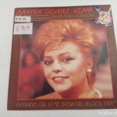 Discos de vinilo: SINGLE/UN,DOS,TRES/MAYRA GOMEZ KEMP/PROMOCIONAL.. Lote 269253003
