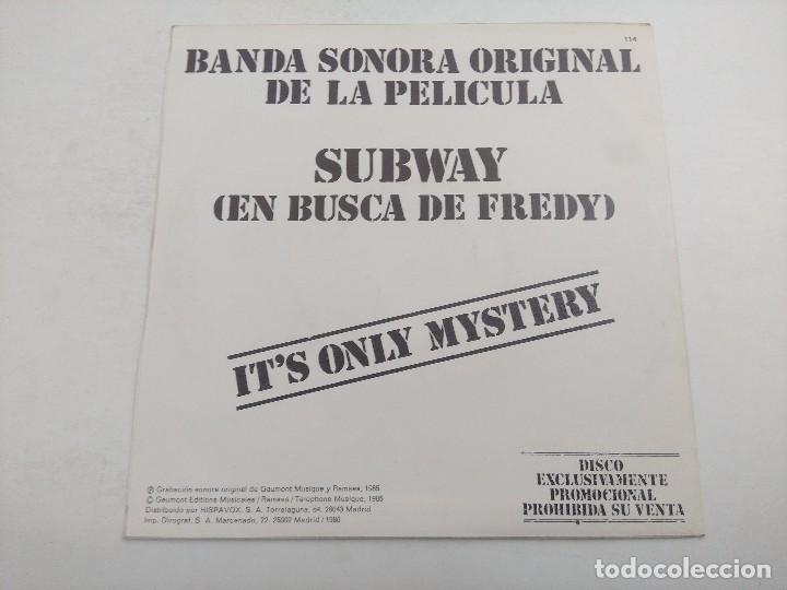 SINGLE/SUBWAY/IT'S ONLY MYSTERY/PROMOCIONAL. (Música - Discos - Singles Vinilo - Bandas Sonoras y Actores)