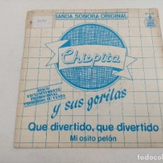 Discos de vinilo: SINGLE/CHISPITA Y SUS GORILAS/PROMOCIONAL.. Lote 269254508