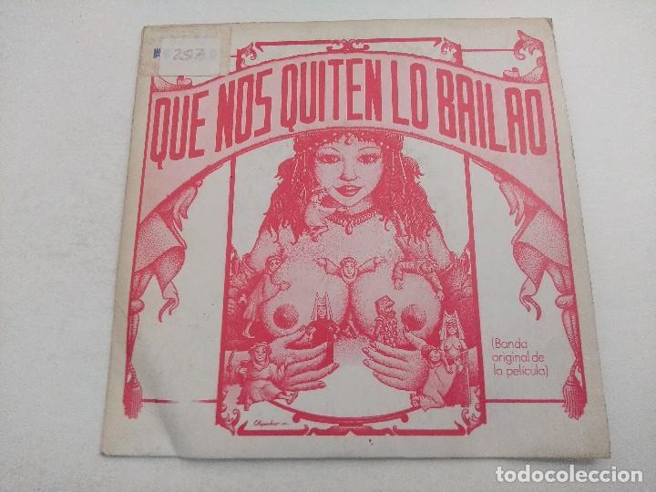 SINGLE/QUE NOS QUITEN LO BAILAO/BANDA ORIGINAL DE LA PELICULA/PROMOCIONAL. (Música - Discos - Singles Vinilo - Bandas Sonoras y Actores)