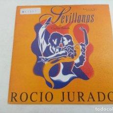 Discos de vinilo: SINGLE/ROCIO JURADO/SEVILLANAS/BANDA SONORA DE LA PELICULA DE CARLOS SAURA.. Lote 269259538