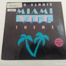 Disques de vinyle: SINGLE/MIAMI VICE/THEME/JAN HAMMER.. Lote 269259758