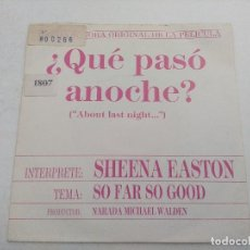Discos de vinilo: SINGLE/QUE PASO ANOCHE/SHEENA EASTON/PROMOCIONAL.. Lote 269260668