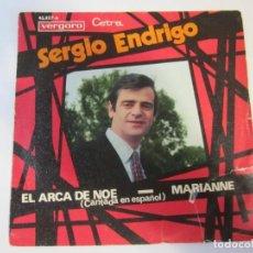Discos de vinilo: DISCO VINILO SINGLE SERGIO ENDRIGO EL ARACA DE NOE. Lote 269269683