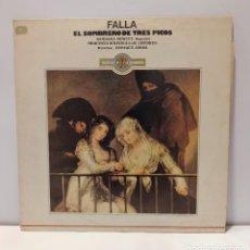 Discos de vinilo: FALLA - EL SOMBRERO DE TRES PICOS. VINILO (LP, ALBUM). CCM2. Lote 269291738