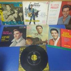 Discos de vinilo: LOTE 7 SINGLE DISCO VINILO DIFERENTES ELVIS PRESLEY. Lote 269291963