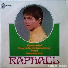 Discos de vinilo: RAPHAEL EP BANDA SONORA ORIGINAL DE LA PELICULA AL PONERSE EL SOL 1967 HISPAVOX. Lote 269294313