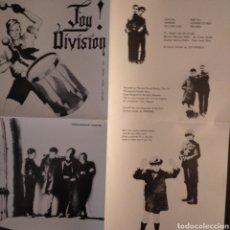 Discos de vinilo: JOY DIVISION AN IDEAL FOR LIVING. Lote 269294938