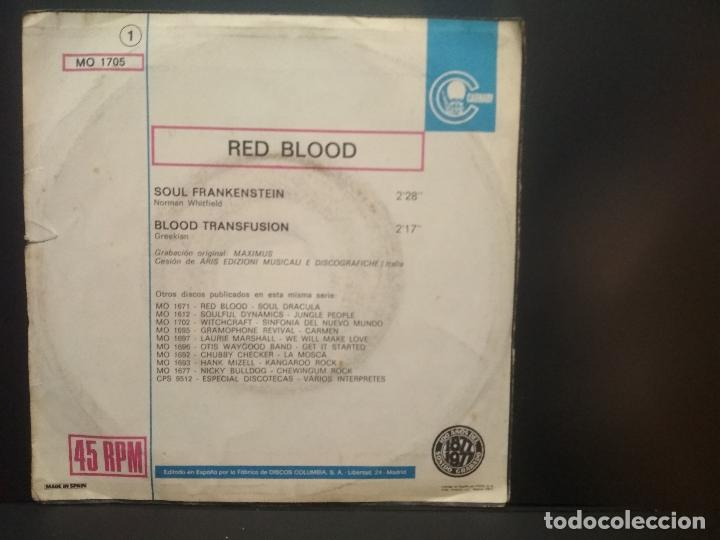 Discos de vinilo: RED BLOOD - SOUL FRANKENSTEIN - SINGLE PROMOCIONAL - 1977 PEPETO - Foto 2 - 269306993