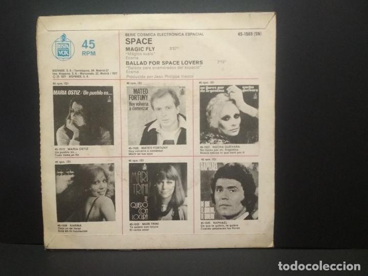 Discos de vinilo: SPACE. SERIE COSMICA ELECTRONICA ESPACIAL. MAGIC FLY. 1977 SINGLE PEPETO - Foto 2 - 269307678