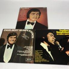 Discos de vinilo: LOTE 3 LP - ENGELBERT HUMPERDINCK 1969/1970 - EN MUY BUEN ESTADO. Lote 269309698