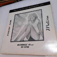 Discos de vinilo: MELISSA - FOOLISH GAME. MUY ESCASO. Lote 269311283