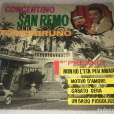Discos de vinilo: EP TORREBRUNO CONCERTINO EN SAN REMO - NO TIENE EDAD Y OTROS TEMAS -PEDIDOS MINIMO 7€. Lote 269327403