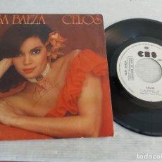Discos de vinilo: ELSA BAEZA / CELOS / SINGLE PROMO - CBS-1982 / MBC. ***/***. Lote 269337823
