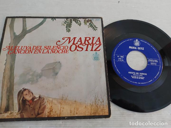 MARIA OSTIZ / ALELUYA DEL SILENCIO / SINGLE-HISPAVOX-1968 / MBC. ***/*** (Música - Discos - Singles Vinilo - Cantautores Españoles)