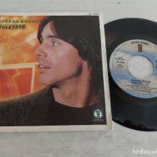 Discos de vinilo: JACKSON BROWNE / BOULEVARD / SINGLE PROMO - ASYLUM RECORDS-1980 / MBC. ***/***. Lote 269339978