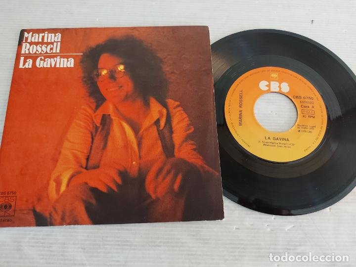 MARINA ROSSELL / LA GAVINA-EL JUTGE / SINGLE - CBS-1978 / MBC. ***/*** (Música - Discos - Singles Vinilo - Cantautores Españoles)