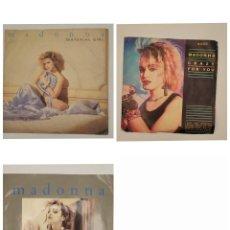 """Discos de vinilo: VINILOS DE 7 PULGADAS DE MADONNA QUE CONTIENEN """"MATERIAL GIRL"""", """"PRETENDER"""", """"LIKE A VIRGIN"""", """"STAY"""". Lote 269354138"""