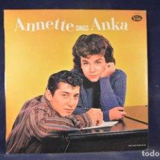 Discos de vinilo: ANNETTE - ANNETTE SINGS ANKA - LP. Lote 269356483
