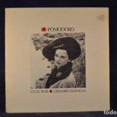 Disques de vinyle: LUCIA BOSÉ, GREGORIO PANIAGUA - IO POMODORO - LP. Lote 269359768
