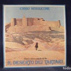Discos de vinilo: ENNIO MORRICONE - IL DESERTO DEI TARTARI (COLONNA SONORA ORIGINALE DEL FILM) - LP. Lote 269361103