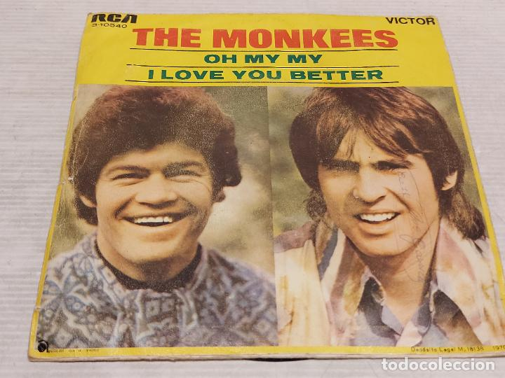 Discos de vinilo: THE MONKEES / OH MY MY / I LOVE YOU BETTER / SINGLE PROMO-RCA-VICTOR-1970 / MBC. ***/*** - Foto 3 - 269371488