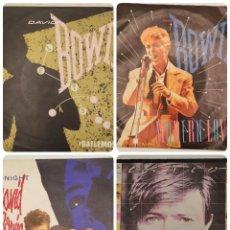 "Discos de vinilo: VINILOS DE 7 PULGADAS DE DAVID BOWIE QUE CONTIENEN ""LET'S DANCE"", ""CAT PEOPLE"", ""MODERN LOVE"".... Lote 269376203"