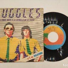 """Discos de vinilo: VINILO DE 7 PULGADAS DE BUGGLES QUE CONTIENE """"EL VIDEO MATÓ A LA ESTRELLA RADIOFÓNICA"""" Y""""KID DYNAMO"""". Lote 269379843"""