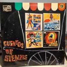 Discos de vinilo: LP CUENTOS DE SIEMPRE ( TEATRO INVISIBLE DE RADIO NACIONAL DE ESPAÑA) VINILO ROJO. Lote 269387183