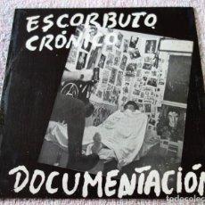 Discos de vinilo: ESCORBUTO CRONICO - DOCUMENTACION - SINGLE JAJA 1982 - EX!. Lote 269390273