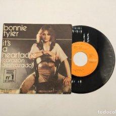 """Discos de vinilo: VINILO DE 7 PULGADAS DE BONNIE TYLER QUE CONTIENE """"IT'S A HEARTACHE"""" Y """"GOT SO-USED TO LOVIN' YOU"""".. Lote 269397853"""